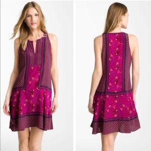 Rebecca Taylor Magenta Silk Shift Dress